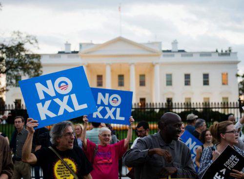 Umweltschützer fürchten durch den Bau der Leitung klimaschädliche Treibhausgase und warnen vor Lecks. Foto: AFP