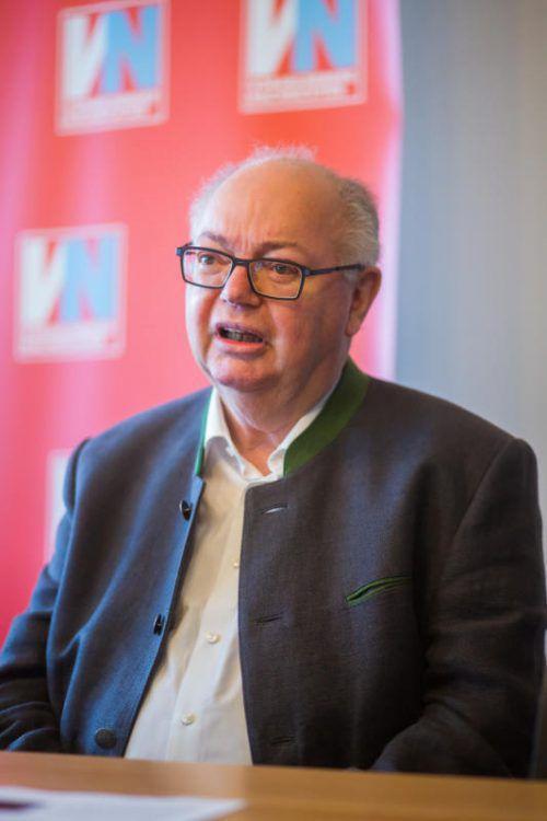 """Wolfgang Rümmele: """"Ich mische mich in die Politik nicht mehr ein.""""  Foto: VN/Steurer"""