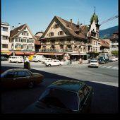 vorarlberg einst und jetzt. Blick über den Dornbirner Marktplatz