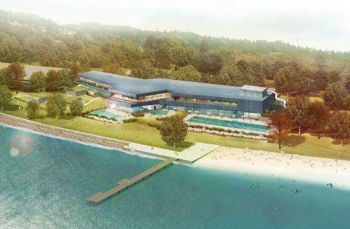 Die Therme Lindau wird laut Investor Andreas Schauer das größte Bad am Bodensee. Schauer