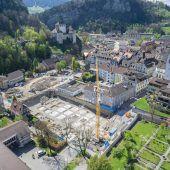Hochbau am Jahnplatz in Feldkirch beginnt