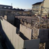 Sporthalle in Wolfurt macht Baufortschritte