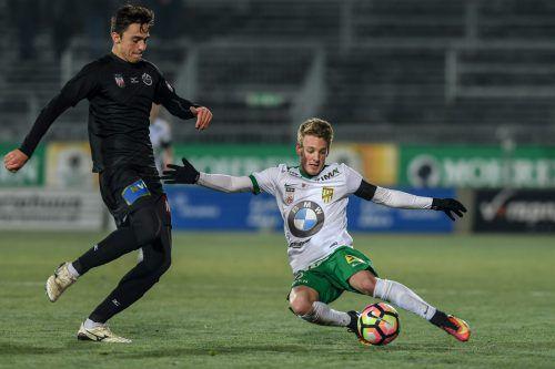 Austrias Pius Grabher zählt im Team der Lustenauer zu den konstantesten Akteuren in dieser Saison. Foto: gepa