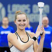 Vondrousova in Biel mit acht Siegen zum Titel
