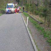 Unfall mit Mountainbike