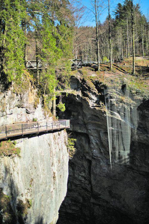Der Wanderweg zwischen Gütle und Staufensee ist frei begehbar.