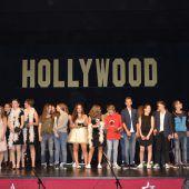Schüler holten Hollywood in den Dorfsaal in Au