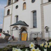 Baustellenführung in der Pfarrkirche in Bildstein
