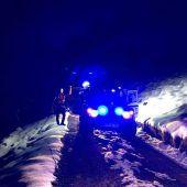 Mann geriet wegen Schnee in Bergnot