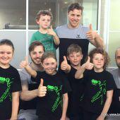 Handball-Idole bei kleinen Fans