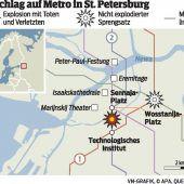 Bombenanschlag auf U-Bahn erschüttert St. Petersburg