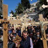 Prozession durch Altstadt von Jerusalem