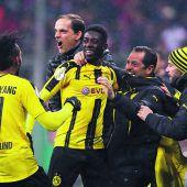 Dortmund bejubelt Sieg im Gigantenduell