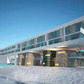 Hotelbau mit Abstrichen