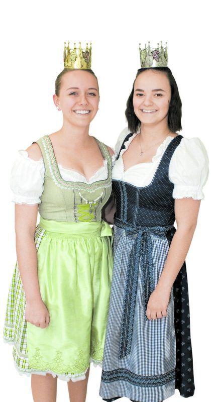 Frisch gekrönt: Weinkönigin Lisa Lechleitner (l.) und Weinprinzessin Tamara Sauerwein. Foto: Franc