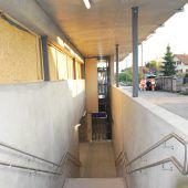 Unterführung am Bahnhof für mehr Sicherheit