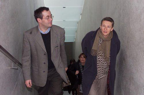 Ingeborg Strobl (hier mit Rudolf Sagmeister) gehört zu den ersten Künstlerinnen, die im Kunsthaus Bregenz präsentiert wurden. Foto: VN
