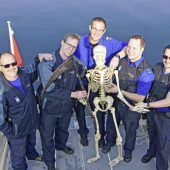 Mysteriöses Skelett in Fischernetz verfangen