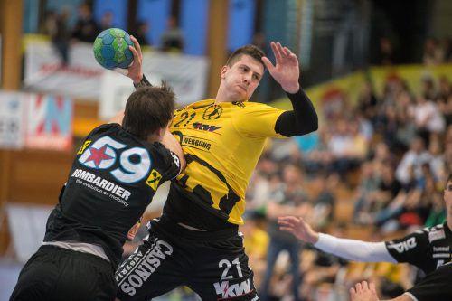 Nemanja Belos lieferte gegen die Fivers mit neun Toren einen deutlichen Befähigungsnachweis ab. Foto: sams