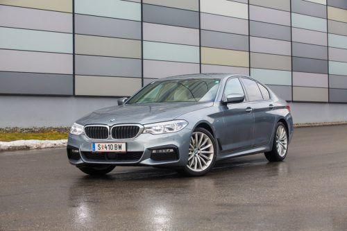 Nobler Business-Class-Typ mit viel Schubkraft: Der neue 5er-BMW pflegt den eleganten Auftritt und den agilen Antritt. Fotos: VN/Steurer