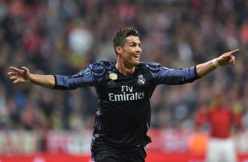 Real-Stürmer Cristiano Ronaldo sorgte wieder einmal für einen Meilenstein im internationalen Fußball. Der Portugiese ist nach wie vor der Torgarant bei den Madrilenen. Foto: afp