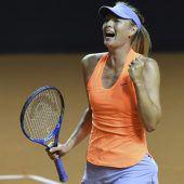 Scharapowa in Stuttgart im Viertelfinale
