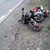Biker (36) stürzt nach dem Überholmanöver