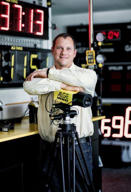 Wolfgang Alge entwickelt mit seinem Team Hightech-Zeitmesssysteme für den Weltklasse-Sport. Foto: M. Gmeiner