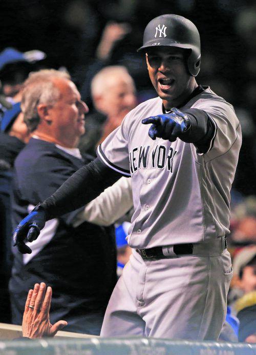 Aaron Hicks von den Yankees gelang der letzte Run.  Foto: ap