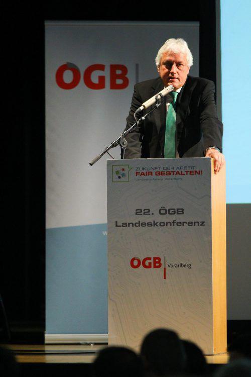 Amtiert seit 22 Jahren als ÖGB-Landeschef: Norbert Loacker.