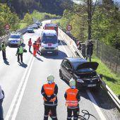 S 16 nach Unfall gesperrt