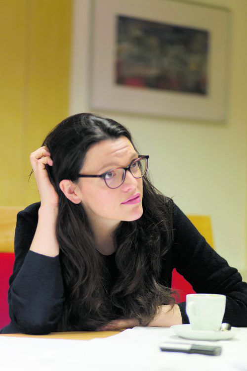 Barbara Blaha sprach auf der Maifeier der Vorarlberger SPÖ über die Zukunft der Sozialdemokratie.  Fotos: VN/Paulitsch