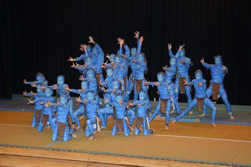 """Bei der Tanzstaatsmeisterschat in Koblach begeisterte Novus mit der Choreografie """"Avatar"""". Foto: verein"""