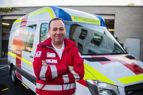 Bertram Märk ist Notfallsanitäter und arbeitet als Dienststellenleiter beim Roten Kreuz in Hohenems.  VN/PS