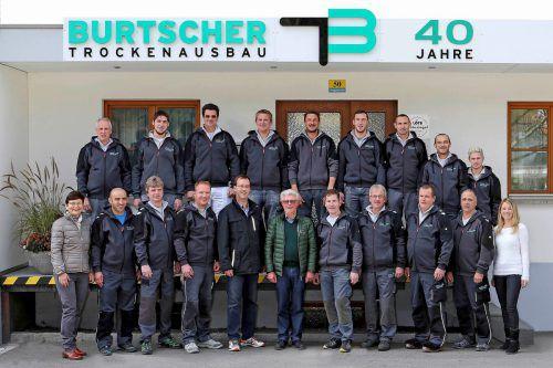 Burtscher Trockenbautechnik setzt auf engagierte Mitarbeiter und feiert auch mit ihnen Jubiläum. Zerlauth