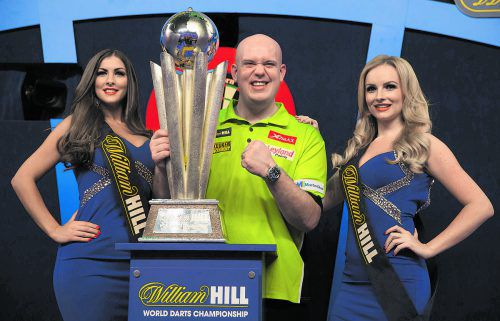 Champion in der Premier League: Michael van Gerwen.  Foto: ap