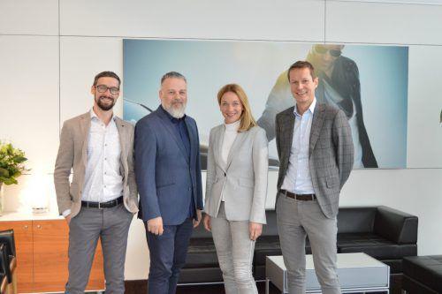 Christina Baumgartner übergibt die Firma an Dieter Unterberger (r.) und die bisherigen Mitarbeiter Christoph Nigsch (l.) und Gerhard Bandl.