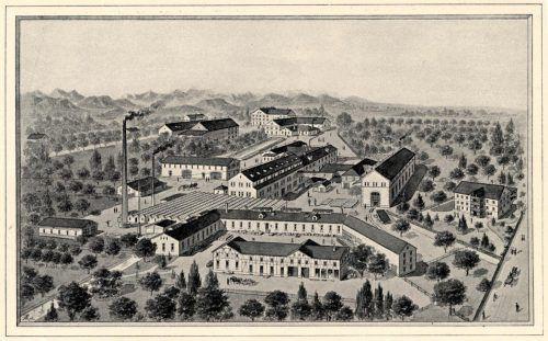 Das Firmengelände der Rüsch-Werke zu Beginn des 20. Jahrhunderts. Foto: Stadtarchiv