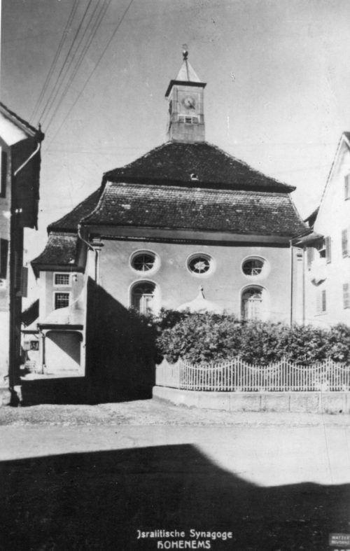 Das Gotteshaus in einer Aufnahme aus dem Jahre 1910. Bis 1938 war es eine Synagoge.  Foto: KK Hohenems