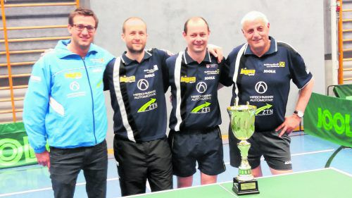 Das Kennelbacher Meisterteam (v. l.): Philipp Potomak, Miroslav Sklensky, Markus Jäger und Bruno Potomak. Foto: VErein
