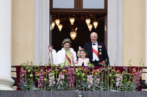 Das norwegische Königspaar Harald V. und Sonja haben gemeinsam ihre runden Geburtstage gefeiert. Foto: Reuters