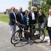 Radweg Feldkirch–Brederis eröffnet