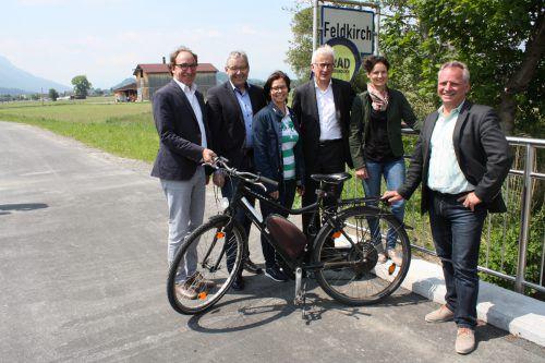 Der gemeindeüberschreitende Radweg konnte vergangene Woche für den Verkehr freigegeben werden. Foto: doh