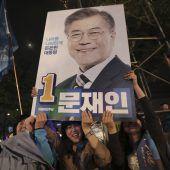 Moon erklärt sich zum Wahlsieger in Südkorea