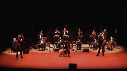 Die Absicht des Orchesters BAND-O-NEON ist vor allem die, Tangos in allen Perioden in ihren ursprünglichen Formen aufzuführen.               foto: BAND-O-NEON