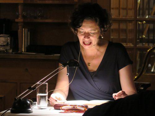 Die Autorin Eva Menasse auf der Hohentwiel. Foto: Voith