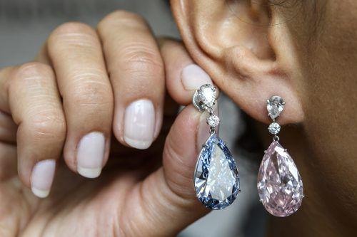 Die Diamantohrringe wurden für 51,8 Millionen Euro verkauft.