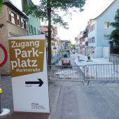 Baumaßnahmen in der Marktstraße im Plan