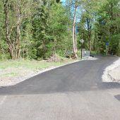 Radweg in Tschagguns kurz vor Fertigstellung