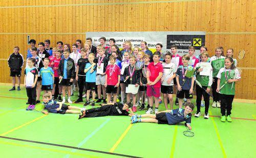Die Medaillengewinner bei der Nachwuchsmeisterschaft im Badminton in Dornbirn. Foto: Verband